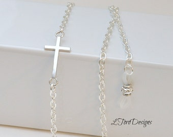 Sterling Silver Plated Eyeglass chain, Sunglasses chain,Christian Lanyard, Glasses chain, Silver glasses chain, Christian glasses chain