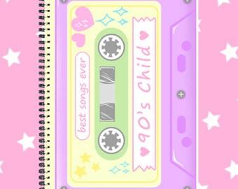 90's cassete fairy kei sketchbook notebook