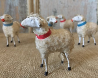 Antique German Wool Sheep