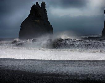 Ocean Pillars | Reynisfjara | Iceland | Home Decor | Wall Art | Fine Art Photography | Print | Matted