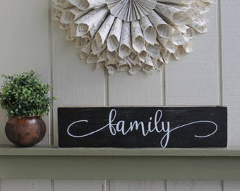 Family Sign, Rustic Family Sign, Rustic Wall Decor, Collage Sign, Family Wall Art, Housewarming Gift, Gift Idea, Family