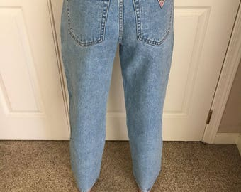 Vintage 80s 90s Guess denim jEANS Highwaisted Mom Made in USA Jeans #10115 Size 28 to 29 waist/Guess Jeans Gigi Hagid