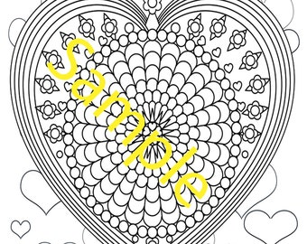 Heart on Heart background Mandala