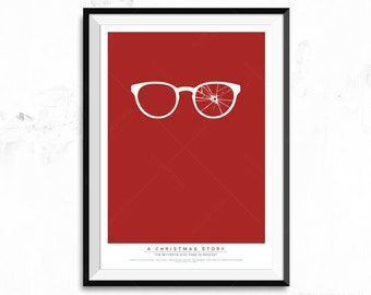 A Christmas Story - Ralphie Broken Glasses Movie Poster Print