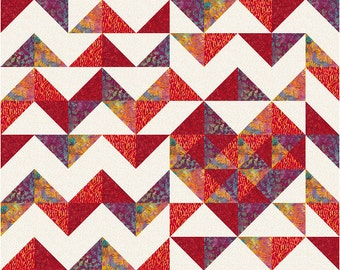 MODERN iHeart Chevrons Quilt Pattern PDF