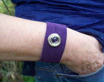 Purple Suede Bracelet