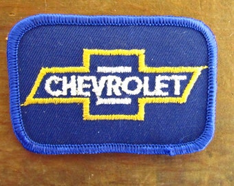 Vintage New Old Stock Chevrolet Patch - Chevy Symbol Patch - 70's Chevy Chevrolet Patch