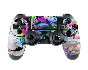 Sony PS4 Controller Skin Kit - Streaming Eye by Mat Miller - DecalGirl Decal Sticker