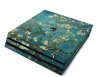 Sony PS4 Pro Skin Kit - Blossoming Almond Tree by Vincent van Gogh - Sticker Decal Wrap