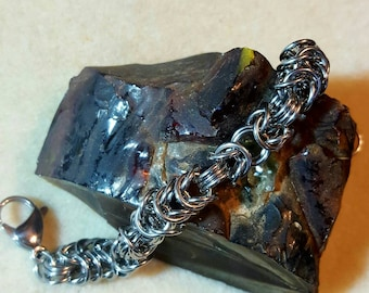 Mixed Weave, Byzantine/Box Chainmaille Bracelet