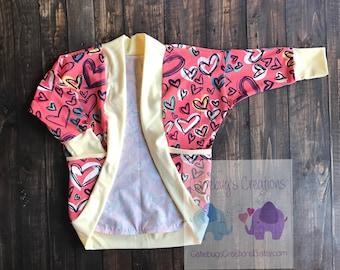 Hearts Cardigan, toddler cardigan, children's cardigan
