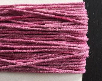 Light Pink, Naturally Dyed Hemp Cord, 30 ft.