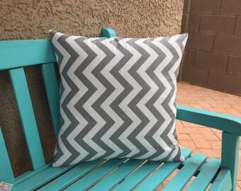 Grey Pillows Sofa - Gray Pillow Cover 18x18 - Gray Chevron Pillow Covers - Designer Pillows - Zig Zag Pillow Cover - 18x18 Pillow Cover