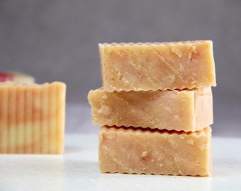 Natural Soap. Lavender + Grapefruit Bath Soap. Handmade Soap