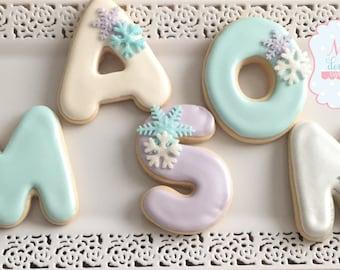 Snow Flake Sugar Cookie Set Winter Wonderland Onederland Cookies