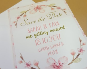 Save the Date Cherry Blossom cards