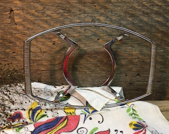 Vintage Corning Ware Casserole Dish Stand/Silver/Footed/P-11