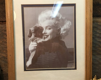 Vintage Marilyn Monroe Photo/Beauty and the Cutie/Framed/Matted