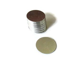 7/8 Round Blanks//20G - 1100 Aluminum - Tumbled/Premium  Stamping blanks//Metal blanks//  Hand Stamping Supplies//Jewelry Blanks