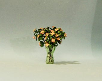 1 inch scale miniature-Dogwood Stems in a Vase