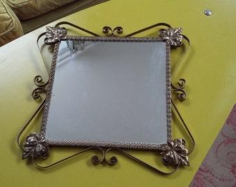 Vintage Retro Metal Mirror