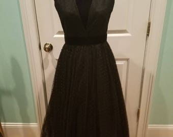 Vintage 50's Tulle Swiss Dot Full Midi Dress