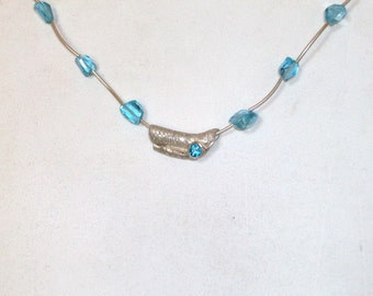 Blue Topaz and Silver Clay