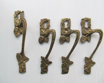 Antique Furniture PULLS Handles Keyholes Escutcheons Art Nouveau Bronze