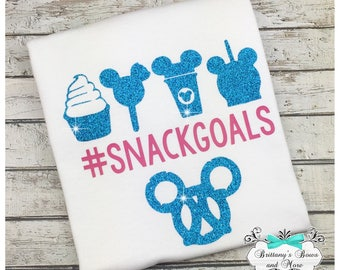 Snack Goals ~ Girls Tee Shirt ~ Kids Tee Shirt ~ Vinyl Tee Shrit ~ Disney Inspired Shirt