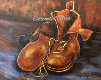 Shoe Art Boots Painting Print