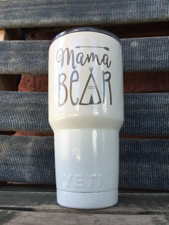 Mama Bear Custom Yeti Rtic Ozark Tumbler