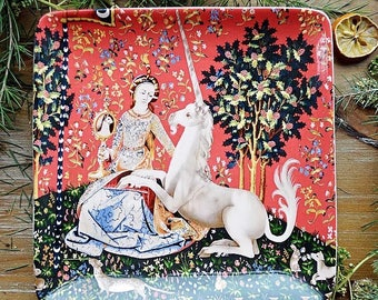 Lady and the Unicorn Salad Plate