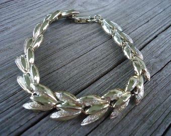 Goldtone Leaf Bracelet