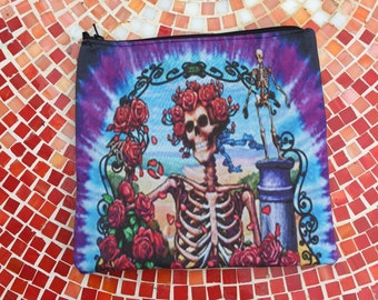 Grateful Dead Bertha Velvet Zipper Pouch