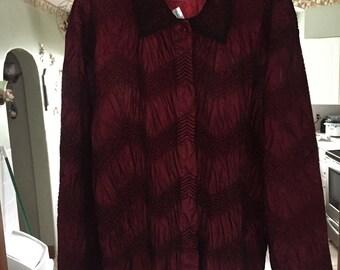 Button down dressy blouse