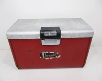 Vintage Cooler, Ice Chest, Thermaster Chest, Picnic Cooler, Beverage Cooler, Poloron, Pop Cooler