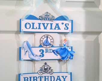 Cinderella Banner, Cinderella Door Sign, cinderella name banner, Cinderella Party Sign,princess banner, Princess decorations,princess party