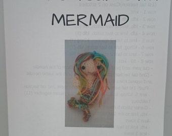 knitted mermaid pattern, mermaid pattern, knitting pattern, mermaid knitted pattern