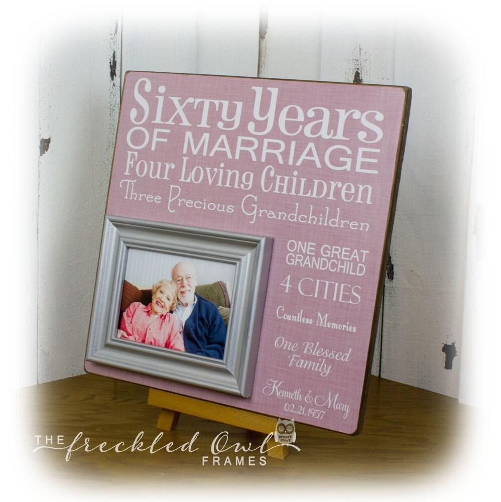 60 Years Wedding Anniversary Gifts: 60 Years Of Marriage 60th Anniversary Gift Sixty Years Of