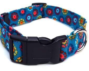 Dog Collar -  Folksy Jade Floral