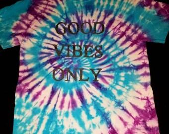 Good Vibes Tie Dye Glow in the Dark T-Shirt