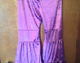Lavender velvet yoga flow pants size medium