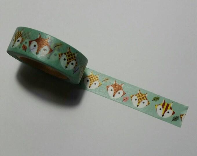Fox Washi Tape Roll