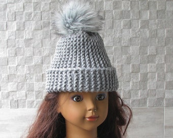 Slouchy Toddler Hat with fur pom pom, Kids Slouch Beehive Beanie, Boys Girls Winter with pom pom,  Fall Hat, Child Hat fur pom pom