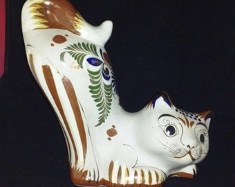 Mexican Tonala Art Pottery Cat