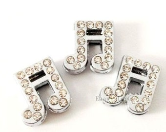 Details-Musical Note Crystal Slide Charm-each (1)