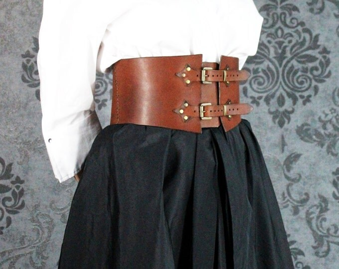 STEAMPUNK small CORSET leather LARP cosplay dieselpunk belt