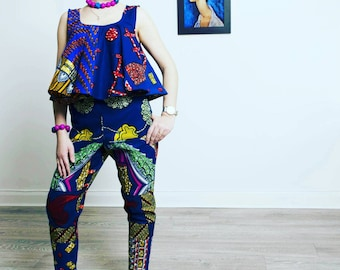 African print crop Top, African clothing, African Fashion, Ankara crop blouse, Festival Top.