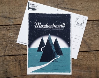 Maybeshewill Postcard Gig Poster Mini Print by Or8 Design
