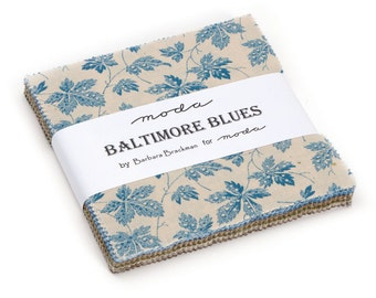 Baltimore Blues Charm Pack by Barbara Brackman for Moda Fabrics 8340PP